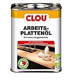Clou Arbeitsplatten-Öl für rohes und geöltes Holz, wasserabweisende und abriebfeste...