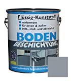 Flüssig Kunststoff 5L Bodenbeschichtung 50m² Betonfarbe Beton Beschichtung (Silbergrau)