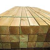 10 Stück Holzpfosten 9x9 cm Länge 300 cm Kantholz-Pfosten mit Kopf gekappt