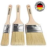 PICTORIS Lasurpinsel Set PREMIUM | 100% Made in Germany | 3 handgefertigte Malerpinsel für Profis |...