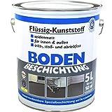 Bodenbeschichtung, Bodenfarbe RAL7001 Flüssigkunststoff 5L Sonderpreis