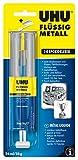 UHU 2-Komponentenkleber Flüssig Metall, Metallfarbener 2K-Klebstoff in einer praktischen...