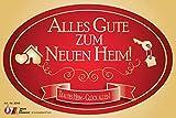 """""""Alles Gute zum neuen Heim"""" Aufkleber Flaschenetikett Etikett zur Einweihung zum Umzug oder..."""