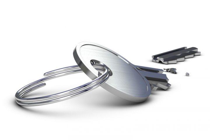 Abgebrochener Schlüssel