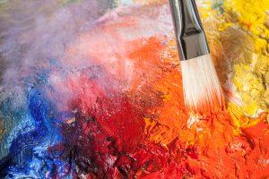 Acrylfarbe auf Acrylfarbe