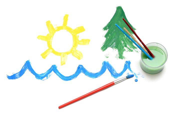 Acrylfarbe in Wasser lösen