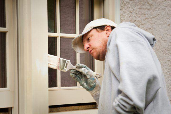 Alu Fenster streichen