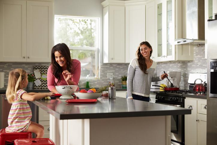 Küchentisch aus arbeitsplatte  Küchenarbeitsplatte als Tisch » So funktionieren Sie sie um