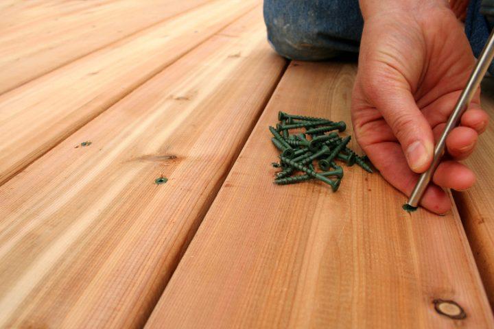 Aufbau Holzterrasse