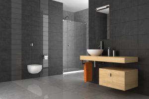 Badezimmer Fliesen grau