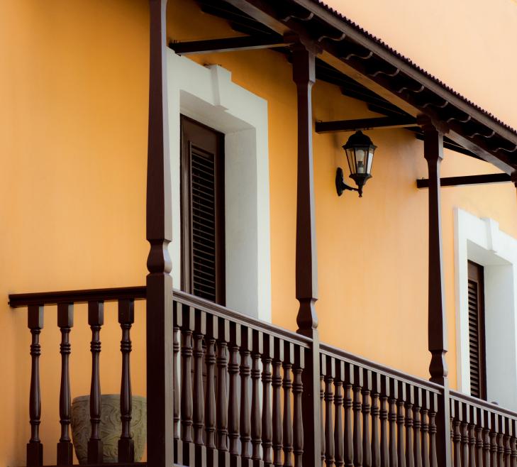 Balkon berdachung idee for Garderobe selber bauen scha ner wohnen