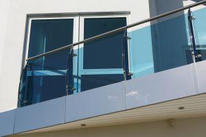 Balkon Windschutz transparent