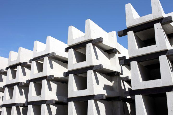 Beton gießen in Formen