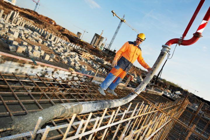 Beton mit Stahlfasern