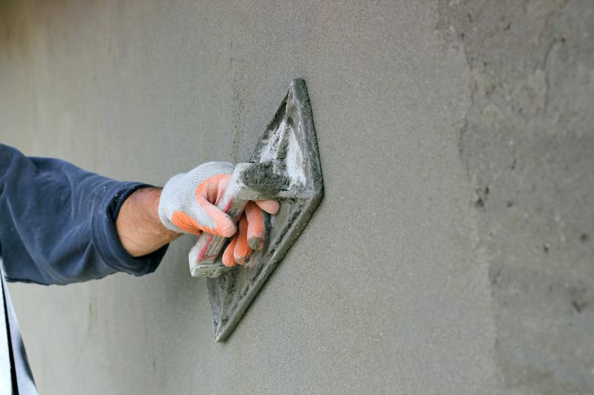 Verputzen auf beton