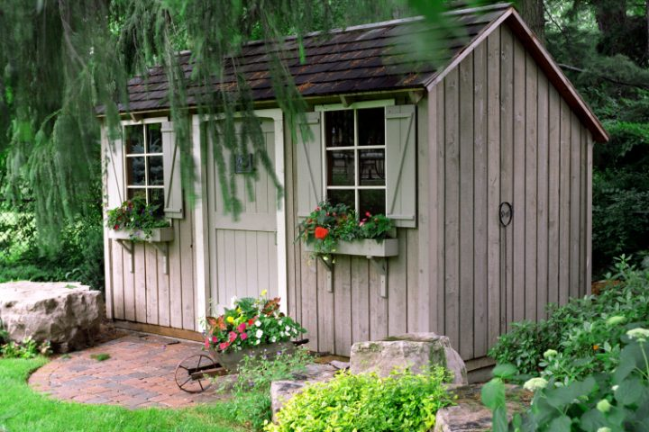 Betonfundament Gartenhaus