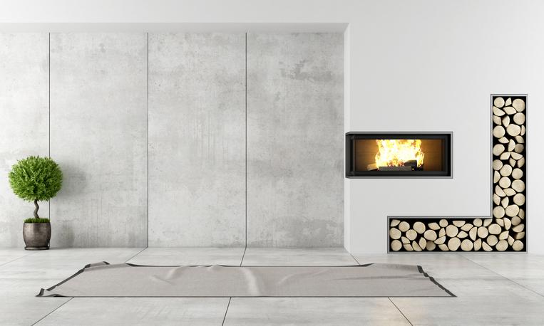 Betonwand im wohnzimmer so schaffen sie ein stilvolles Photoshop santa in your living room free