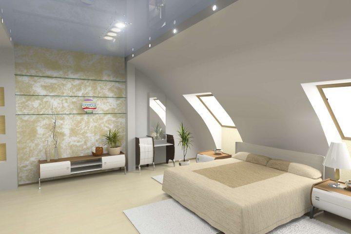 Bett platzieren mit Dachschräge