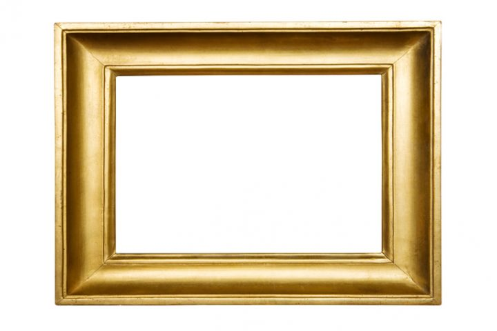 Goldener Bilderrahmen
