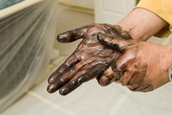 Bitumenflecken entfernen