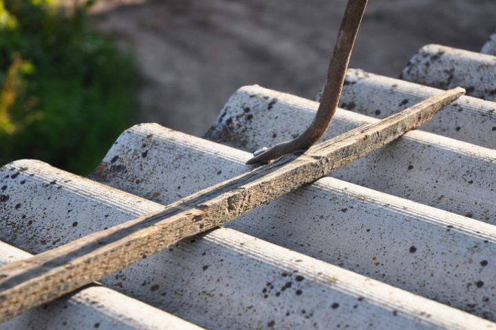 Bitumenwellplatten Reparatur