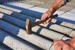 Bitumenwellplatten nageln