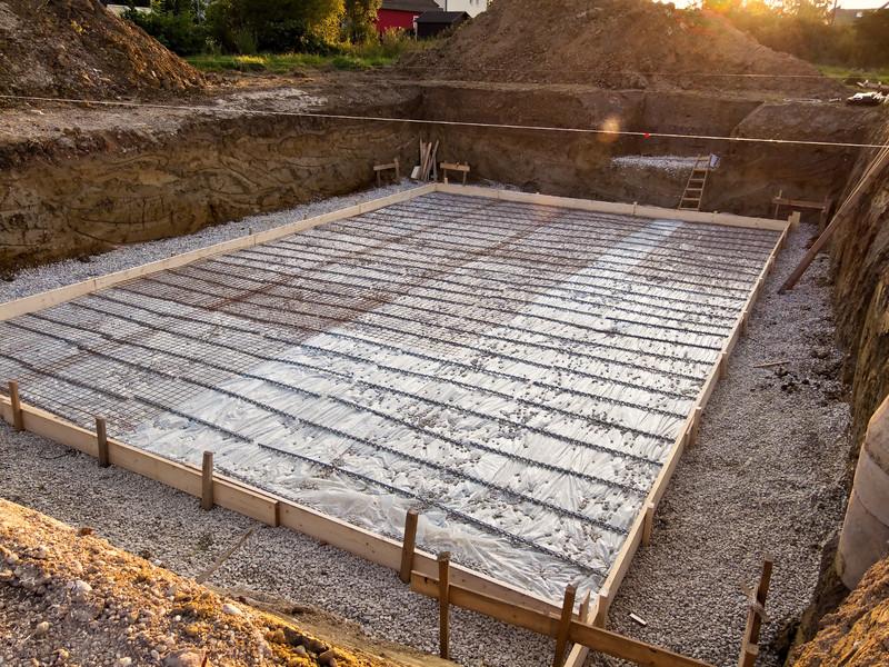 Wärmeisolierung des Fundamentes