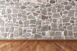 Bruchsteinmauer trocknen