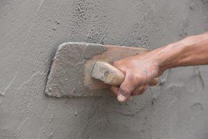 Bruchsteinmauer Putz auftragen