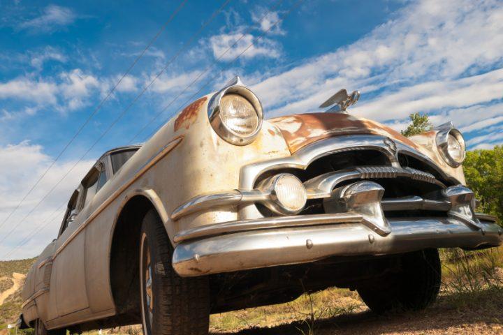Altes Auto Chrom