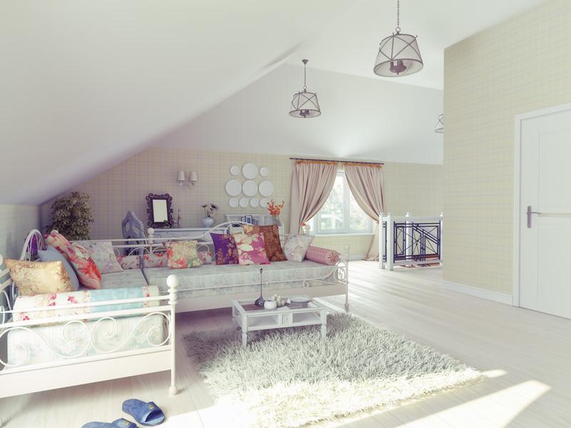 dachgeschoss einrichten ideen f r den urgem tlichen dachboden. Black Bedroom Furniture Sets. Home Design Ideas