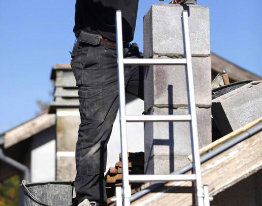 Dachleiter für Schornsteinfeger