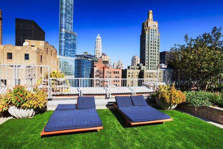 Dachterrasse Rasen verlegen