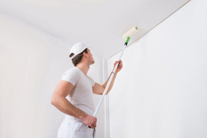 Decke und Wand gleich streichen