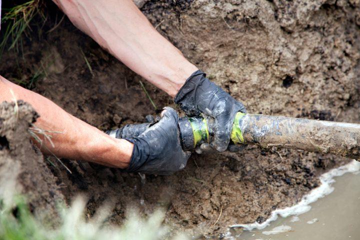 Drainage hoher Grundwasserspiegel