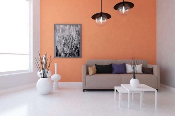 eine wand farbig streichen wirkungsvolle effekte. Black Bedroom Furniture Sets. Home Design Ideas