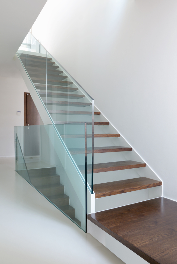 Frosted Glass Banister