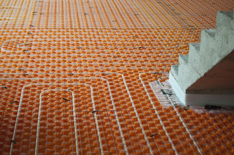 Estrich für die Fußbodenheizung