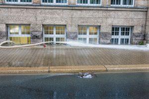Estrich trocknen nach Wasserschaden
