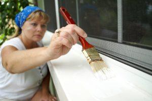 Fensterbank lackieren
