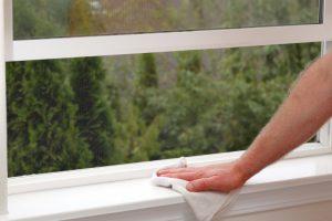Fensterbank reinigen
