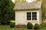 Fensterglas Gartenhaus