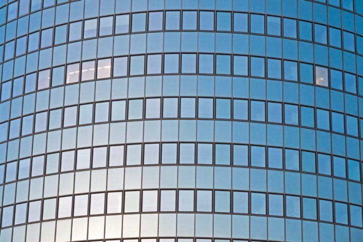 Fensterglas verspiegelt