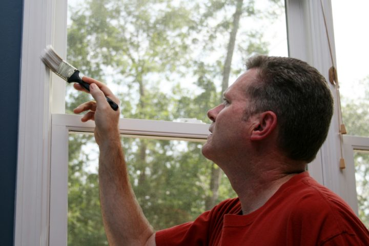 Fensterlaibung streichen