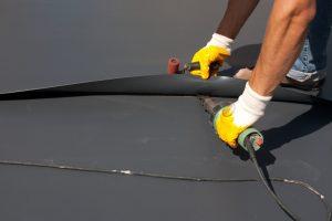Fertiggarage Dach abdichten