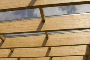 Flachdach Holzkonstruktion