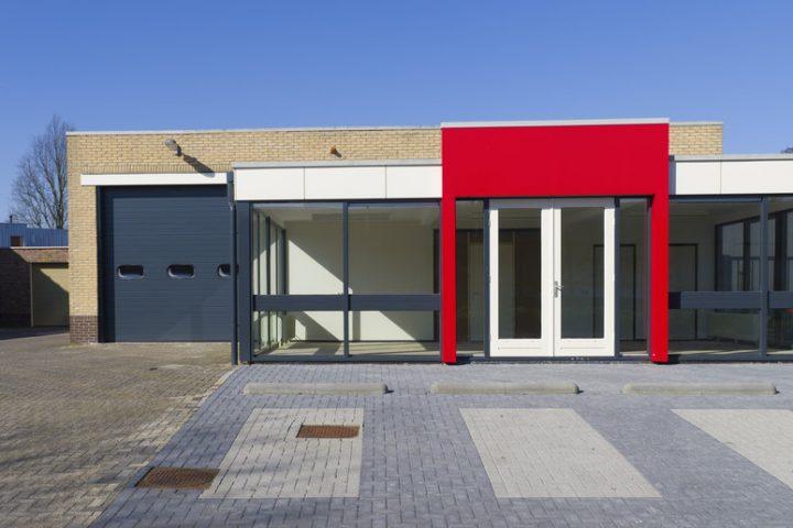Flachdach Pavillon