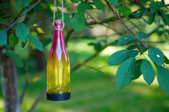 Lampe aus Flasche Anleitung