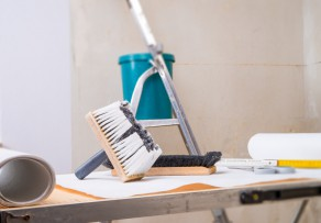 fototapete anbringen einfache und umfangreiche anleitung. Black Bedroom Furniture Sets. Home Design Ideas