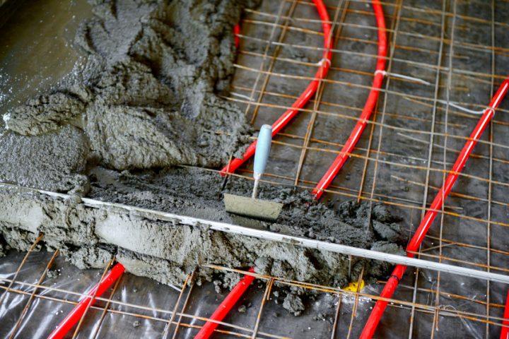 Fußbodenheizung Untergrund